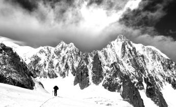 Mont Blanc desde la Bremba italiana.