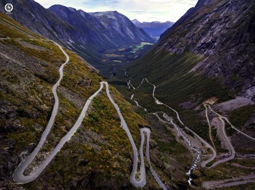 carretera de Noruega.